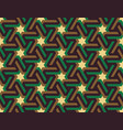 seamless geometric islamic ornament with stars vector image