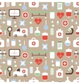 Seamless pattern of medical and health colorful vector image vector image