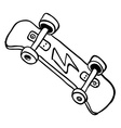 simple black and white skateboard vector image vector image