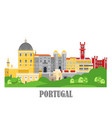 sintra city in portugal landmark travel vector image vector image