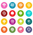 slice food icons set colorful circles vector image