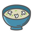 soup filled outline icon food and drink vector image