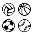 sport grunge balls vector image