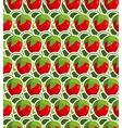 Strawberry seamless background pattern from garden vector image vector image