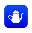 traditional turkish teapot icon digital blue vector image vector image