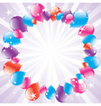 vector festive balloons and lightburst vector image vector image
