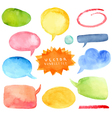 Watercolor hand drawn speech bubbles vector image vector image