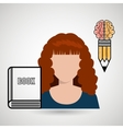 woman book idea icon vector image vector image