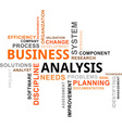 word cloud business analysis vector image vector image