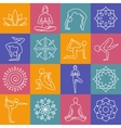 Yoga body poses symbols for pilates studio vector image