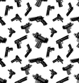 Seamless pattern with guns vector image