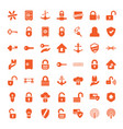49 secure icons vector image vector image