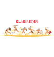 ancient rome gladiators vector image vector image