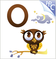 animal alphabet for kids o for owl vector image
