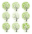 Art tree collection for your design vector image