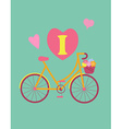 Bicycle concept vintage colour poster vector image