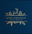 christmas frame banner with vintage typography vector image vector image