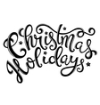 Christmas holidays poster vector image vector image