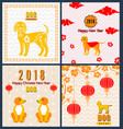 collection banners with chinese new year earthen vector image vector image