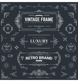 Collection of vintage patterns vector image vector image