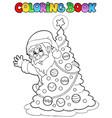 coloring book santa claus theme 5 vector image vector image