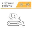crawler bulldozer line icon vector image vector image