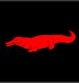 crocodile logo vector image vector image