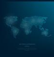 digitally drawn blue world map vector image vector image
