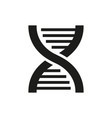 dna icon on white background vector image vector image