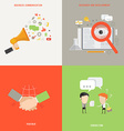 Element of business communication consult partner vector image