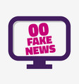 fake news pc monitor screen on a white background vector image