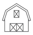 farm barn thin line icon farming and agriculture vector image
