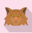fashion head cat icon flat style vector image vector image