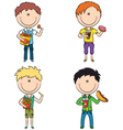 Fast Food Boys vector image vector image