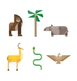 Flat African Animals and Plants Geometric Style vector image vector image