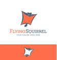 flying squirrel logo icon vector image