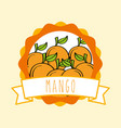 fresh mango natural fruit organic emblem design vector image vector image