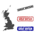 great britain map in halftone dot style with vector image
