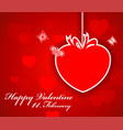 greeting valentine paper card with lettering vector image vector image