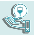 hand service medical person vector image