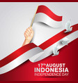happy independence day indonesia hands holding