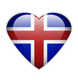 Iceland flag button vector image vector image