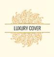 luxury elegant cover golden mandala on vector image
