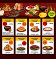 malaysian cuisine restaurant menu template design vector image vector image