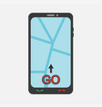 mobile phone with map vector image vector image