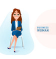 modern business woman in the office sitting on the vector image vector image