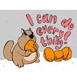 Motivation cartoon concept - angry hamster i can vector image
