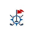 navigation golf logo icon design vector image vector image