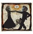 noon dancers voodoo night - an hand drawn vector image