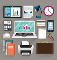 office stationery and equipment vector image